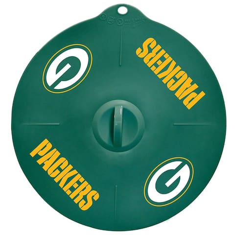 """Green Bay Packers 9"""" Silicone Lid"""