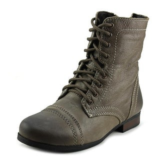 Steve Madden Jtroopa Round Toe Leather Combat Boot