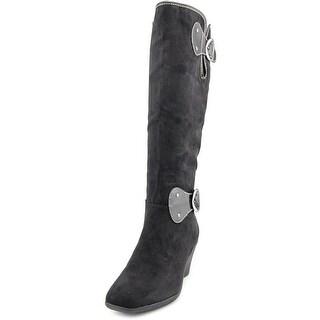 Aerosoles Wonderling Women  Round Toe Synthetic Black Knee High Boot