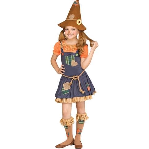 Tween Girls Sweet Scarecrow Halloween Costume