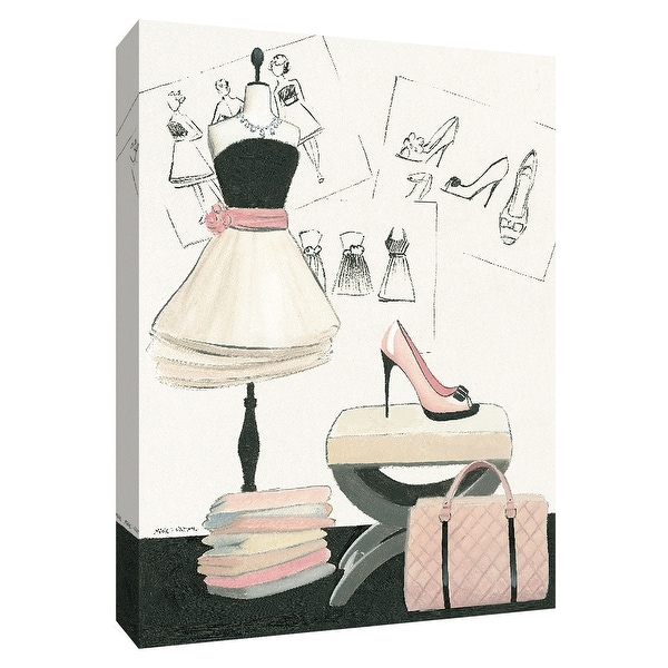 """PTM Images 9-154726 PTM Canvas Collection 10"""" x 8"""" - """"Dress Fitting I"""" Giclee Fashion Art Print on Canvas"""
