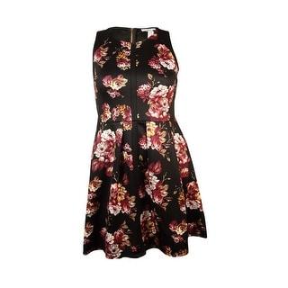 Bar III Women's Flared Skirt Floral Print Dress - xL