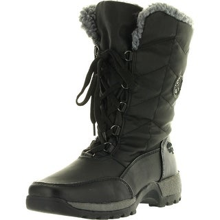Totes Womens Rhonda Winter Cold Weather Boots - Black