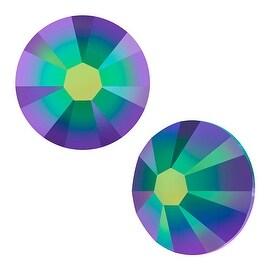 Swarovski Crystal, Round Flatback Rhinestone SS7 2.2mm, 72 Pieces, Crystal Scarabaeus Green