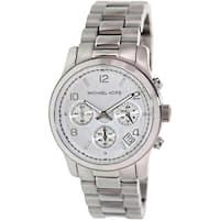 Michael Kors Women's Runway  Silver Stainless-Steel Quartz Fashion Watch
