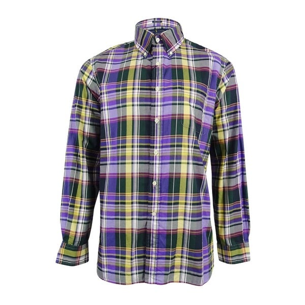 f036ae48 Shop Polo Ralph Lauren Men's Plaid Shirt - Lavender - Free Shipping Today -  Overstock - 18947114