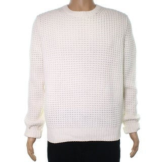 Vince. White Mens Size Large L Crewneck Wool Knitted Sweater