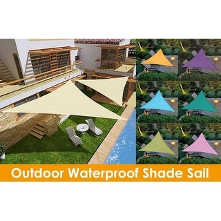 Outdoor Waterproof Triangular UV Sun Sail Shade Net Triangle Sun Sail Tent Camping Garden