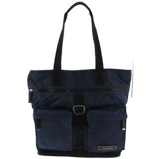 Calvin Klein Womens Tote Handbag Contrast Trim Organizer - Extra large
