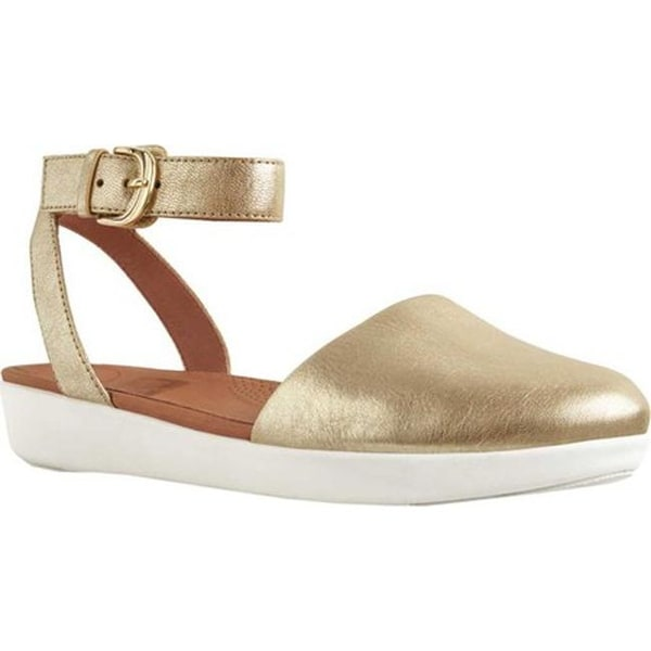 1af08e99d Shop FitFlop Women s Cova Closed Toe Sandal Metallic Gold Leather ...