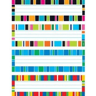 (6 Pk) Stripe-Tacular Desk Toppers Name Plates