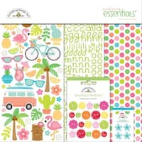 """Doodlebug Essentials Page Kit 12""""X12""""-Fun In The Sun"""