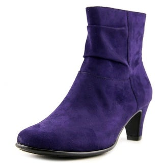 Aerosoles Red Light Women W Round Toe Canvas Purple Ankle Boot