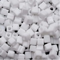 Miyuki 4mm Glass Cube Beads Opaque White 402 10 Grams - Thumbnail 0