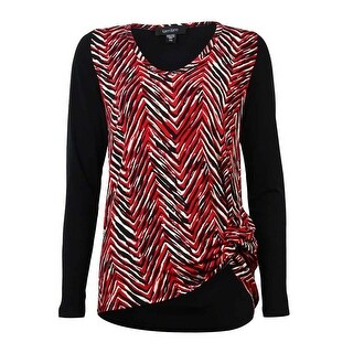 Karen Kane Women's Long Sleeve Multi Chevron Blouse - Print - xs
