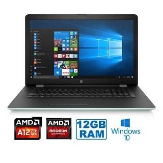 "HP 17-AK014 AMD A12-9720P Quad-Core 12GB 1TB HDD 17.3"" HD+ WLED Laptop - pale mint"