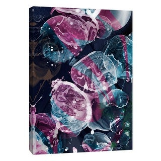 """PTM Images 9-109096  PTM Canvas Collection 10"""" x 8"""" - """"Bubbling Midnight 1"""" Giclee Abstract Art Print on Canvas"""