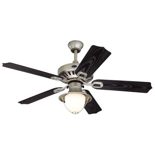 "Westinghouse 7877965 Lafayette 52"" 5 Blade Hanging Indoor Ceiling Fan with Reversible Motor, Blades, Light Kit, and Down Rod"