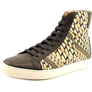TCG Logan Men Round Toe Canvas Gold Sneakers