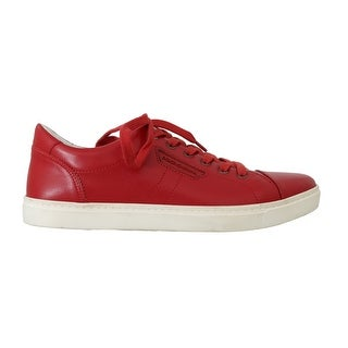 Dolce & Gabbana Dolce & Gabbana Red Leather Casual Sneakers - eu42-us9