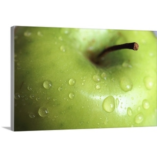 """""""Apple with water drops"""" Canvas Wall Art"""