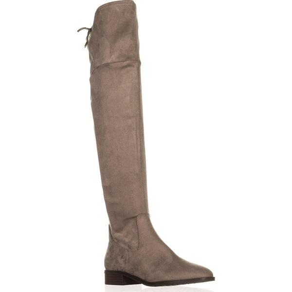 Ivanka Trump Larell Over-The-Knee Riding Boots, Dark Gray