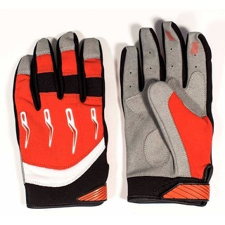 Race-Driven ATV MX Off Road Silicone Fingertip Riding Gloves - Red