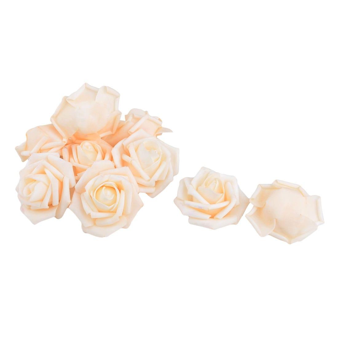 Wedding Foam Diy Garland Decor Artificial Rose Flower Heads 10pcs Light Orange Overstock 28888175