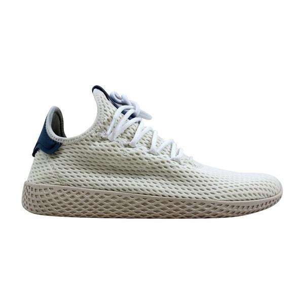 daeeac2b7 Adidas Pharrell Williams Tennis Hu J White Blue Grade-School CP9804 Size 7  Medium