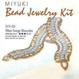 Create Your Own Miyuki Glass Bead Bracelet Kit - Blue