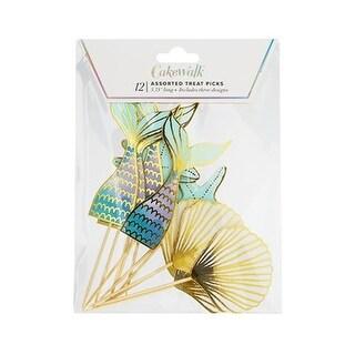 Cakewalk 7273 Mermaid Treat Sticks, Assorted Color