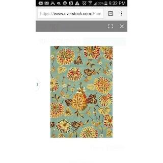 Hand Tufted Leighton Blue Wool Rug 7 6 X 9 6 Free