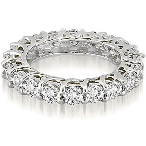 Lucida 3.30 cttw. 14K White Gold Round Cut Diamond Eternity Wedding Ring
