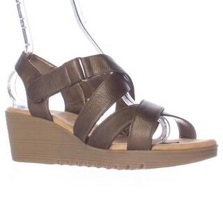 Aerosoles Handbog Wedge Strappy Sandals - Bronze