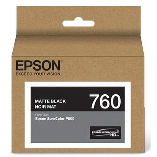 Epson T760820 Ultrachrome Hd Matte Black Standard Capacity Cartridge Ink