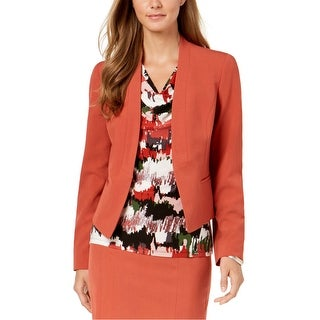 Link to Nine West Womens Collarless Blazer Jacket Similar Items in Suits & Suit Separates