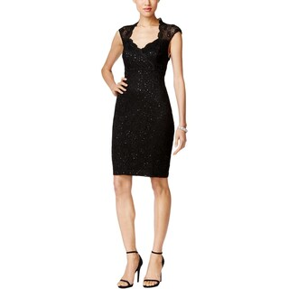 Connected Apparel Womens Cocktail Dress Lace Cut-Out (2 options available)