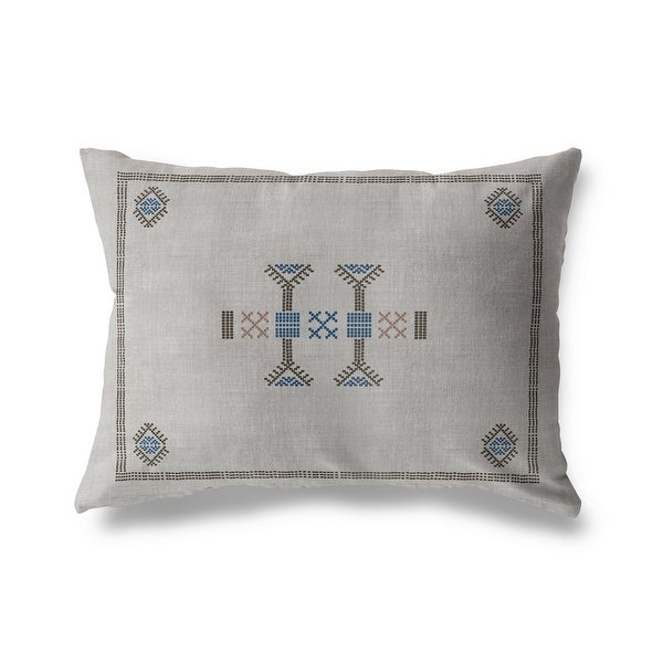 MOROCCAN KILIM GREY Indoor|Outdoor Pillow By Becky Bailey. Opens flyout.