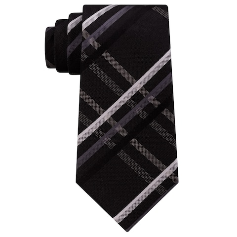 Kenneth Cole Mens Grid Self-Tied Bow Tie - One Size