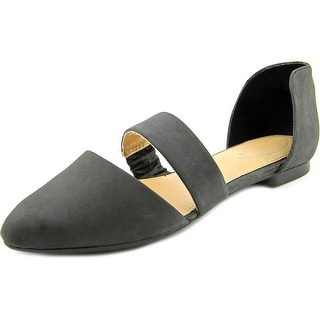 Hush Puppies Kendall Trave Women Pointed Toe Leather Black Flats