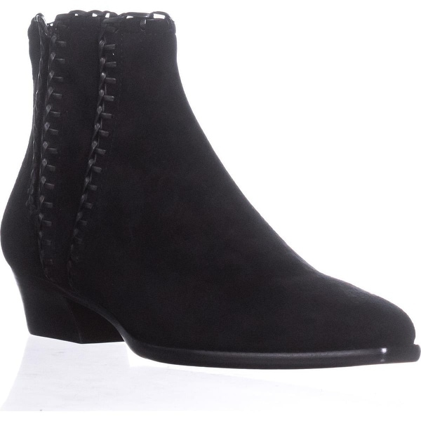 Michael Kors Collection Presley Pull On Stiched Ankle Boots, Black - 9.5 us / 40.5 eu