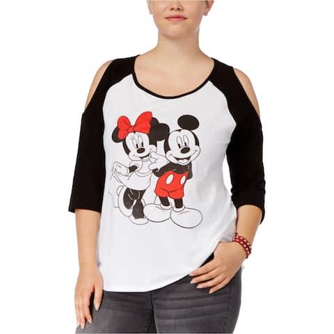 Disney Womens Cold Shoulder Graphic T-Shirt