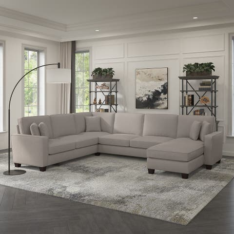 Stockton 127W U Shaped Couch with Reversible Chaise by Bush Furniture