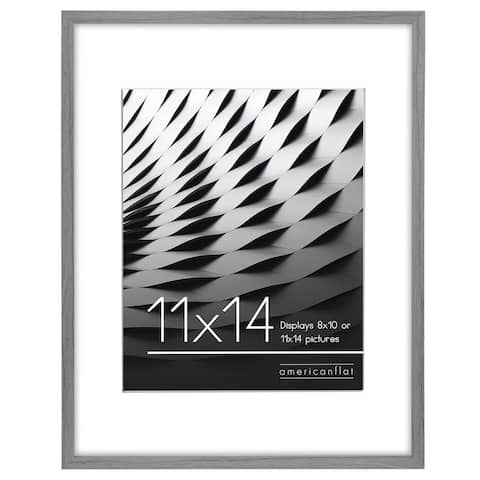 "Americanflat Thin Picture Frame in Grey Wood -11"" x 14"""