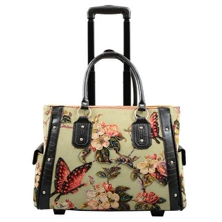 Link to Butterfly Tapestry Rolling Laptop Carrier Similar Items in Carry On Luggage