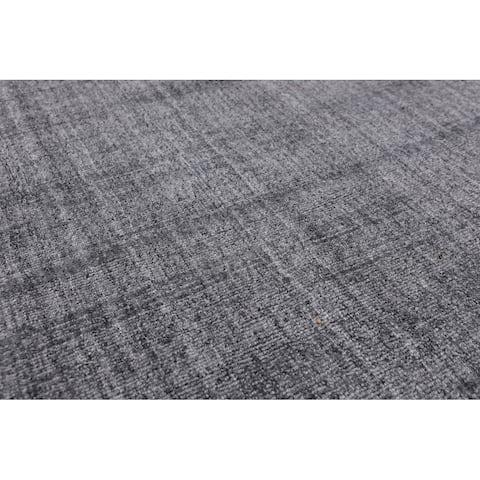 "Hand Loomed Tone on Tone Grey, Area Rug Wool Modern & Contemporary Oriental Area Rug (5x7) - 4'11"" x 8'2"""