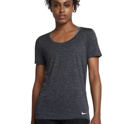 Nike Women's Dry Training T Shirt Grey Size Extra Small - X-Small