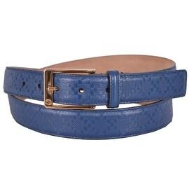 New Gucci Men's 345658 Cove Blue Diamante Leather Belt 36 90