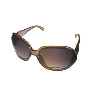 Ellen Tracy Womens Sunglass 531 3 Honey Fashion Rectangle Plastic, Brown Lens - Medium