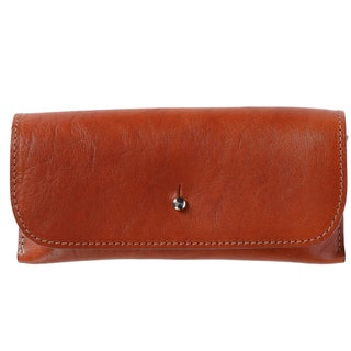 The British Belt Company Italian Leather Glasses Case with Suede Lining - One size (Option: TAN)
